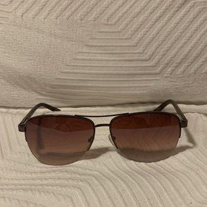 Ann Taylor LOFT Aviator Sunglasses (brown)
